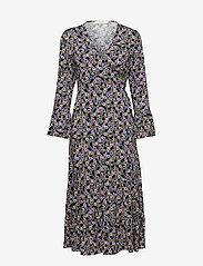 Gestuz - FayaGZ wrap dress ZE1 19 - wrap dresses - purple/black flower - 0