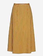 Gestuz - BethanyGZ skirt ZE1 19 - midi skirts - narcissus yellow stripe - 0