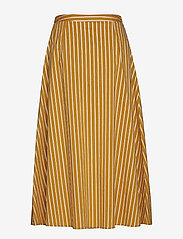 Gestuz - BethanyGZ skirt ZE1 19 - midi skirts - narcissus yellow stripe - 1