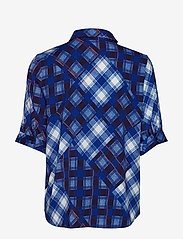 Gestuz - LuanneGZ shirt MA19 - lyhythihaiset puserot - blue check - 2