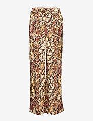 Gestuz - ChellaGZ pants MA19 - bukser med brede ben - red/yellow snake - 1