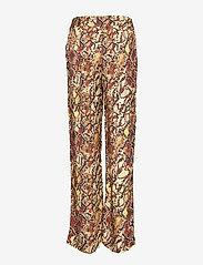 Gestuz - ChellaGZ pants MA19 - bukser med brede ben - red/yellow snake - 2