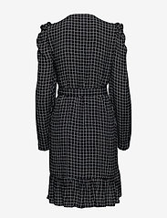 Gestuz - DeniceGZ wrap dress MA19 - kietaisumekot - black/white check - 2