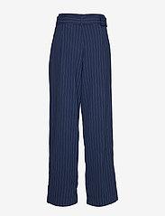 Gestuz - KineGZ pants MA19 - leveälahkeiset housut - peacoat pinstripe - 2