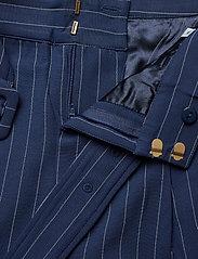 Gestuz - KineGZ pants MA19 - leveälahkeiset housut - peacoat pinstripe - 5