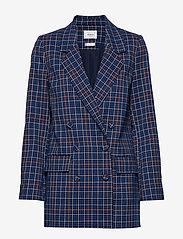 Gestuz - NiraGZ blazer MA19 - bleiserit - blue/umber check - 1
