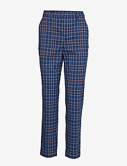 Gestuz - NiraGZ pants MA19 - suorat housut - blue/umber check - 1