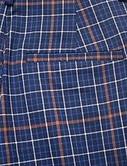 Gestuz - NiraGZ pants MA19 - suorat housut - blue/umber check - 5