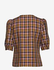 Gestuz - AcieGZ shirt MA19 - short-sleeved blouses - blue/blush check - 2