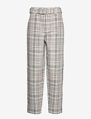 Gestuz - GinnieGZ pants MA19 - suorat housut - red/yellow check - 1