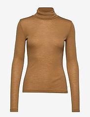 Gestuz - WilmaGZ rollneck - t-shirts basiques - bone brown - 1
