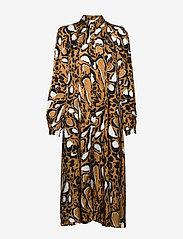 Gestuz - LoriGZ dress SO20 - midi kjoler - brown leo - 3