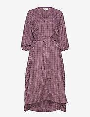Gestuz - ZiellaGZ OZ dress SO20 - midi kjoler - purple check - 1