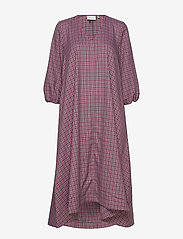 Gestuz - ZiellaGZ OZ dress SO20 - midi kjoler - purple check - 3