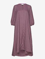 Gestuz - ZiellaGZ OZ dress SO20 - midi kjoler - purple check - 3