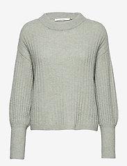 Gestuz - AlpiaGZ pullover MS20 - tröjor - soft green mealnge - 1