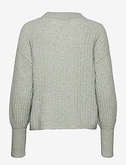 Gestuz - AlpiaGZ pullover MS20 - tröjor - soft green mealnge - 2