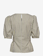 Gestuz - ElionaGZ blouse MS20 - short-sleeved blouses - lime light check - 2