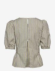 Gestuz - ElionaGZ blouse MS20 - short-sleeved blouses - lime light check - 3