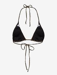Gestuz - PilGZ bikini top - bikini overdele - brown logo - 2