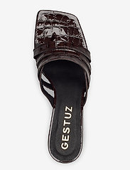Gestuz - AshleyGZ heeled sandal HS20 - højhælede sandaler - dark brown croco - 4