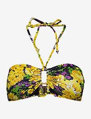Gestuz - ArtyGZ bikini top - góry strojów kąpielowych - yellow flower garden - 0