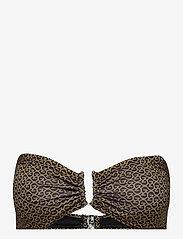 Gestuz - CanaGZ bikini top - bikini overdele - brown logo - 3