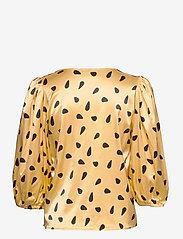Gestuz - LutilleGZ shirt HS20 - langærmede bluser - yellow black dot - 2
