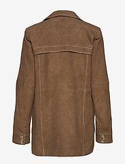 Gestuz - EllieGZ jacket HS20 - leather jackets - toffee - 1