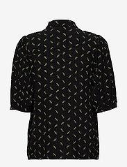 Gestuz - BelinaGZ shirt AO20 - short-sleeved blouses - black flower pattern - 1