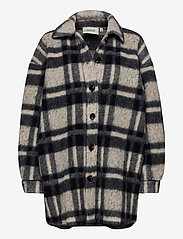 Gestuz - RinaGZ shirt MA20 - wool jackets - salt/peber check - 0