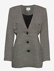 Gestuz - LidaGZ blazer YE20 - getailleerde blazers - black/white - 1