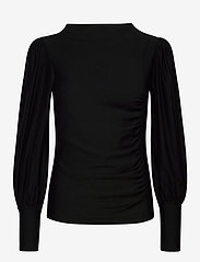 Gestuz - RifaGZ puff blouse - langærmede bluser - black - 1