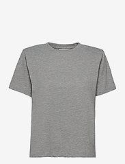 Gestuz - JoryGZ tee - t-shirts - grey melange - 1