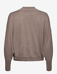 Gestuz - ThelmaGZ duo knit SO21 - cardigans - dark sand melange - 3