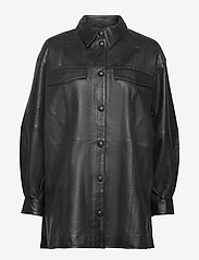 Gestuz - KyleeGZ shirt SO21 - overshirts - black - 1
