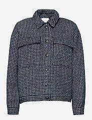 Gestuz - CleaGZ jacket SO21 - wool jackets - navy/white check - 1