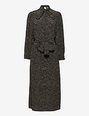Gestuz - TikaGZ midi dress SO21 - midi kjoler - brown strokes - 1