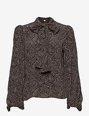 Gestuz - TikaGZ blouse SO21 - langærmede bluser - brown strokes - 2
