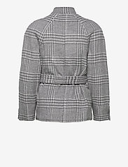 Gestuz - RoselGZ jacket SO21 - wool jackets - grey/white check - 2