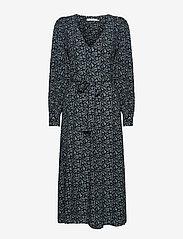 Gestuz - LoraliGZ V-neck dress SO21 - midi kjoler - aqua flower - 1