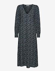 Gestuz - LoraliGZ V-neck dress SO21 - midi kjoler - aqua flower - 3