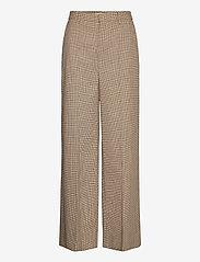 Gestuz - GritaGZ HW wide pants MS21 - bukser med brede ben - sand black check - 1