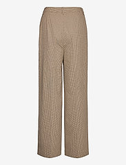Gestuz - GritaGZ HW wide pants MS21 - bukser med brede ben - sand black check - 2