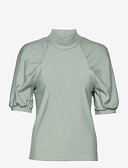 Gestuz - RifaGZ ss turtleneck - kortærmede bluser - slate gray - 1