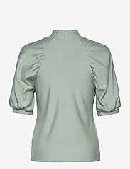 Gestuz - RifaGZ ss turtleneck - kortærmede bluser - slate gray - 2
