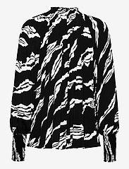 Gestuz - ZohaGZ blouse MS21 - langærmede bluser - black scratch - 2