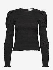 Gestuz - MazziGZ ls blouse MS21 - langærmede bluser - black - 1