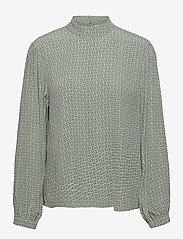 Gestuz - MoaGZ blouse MS21 - langærmede bluser - green logo - 1