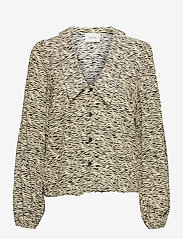 Gestuz - EileenGZ shirt - langærmede bluser - yellow wave - 1
